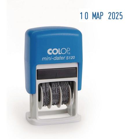 Датер автоматический пластиковый Colop S120 мини (шрифт 3.8 мм, месяц обозначается буквами)
