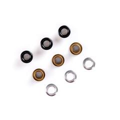 Люверсы металлические 5мм чёрные (цветная эмаль)