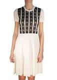 Платье вязаное с кружевом VALENTINO