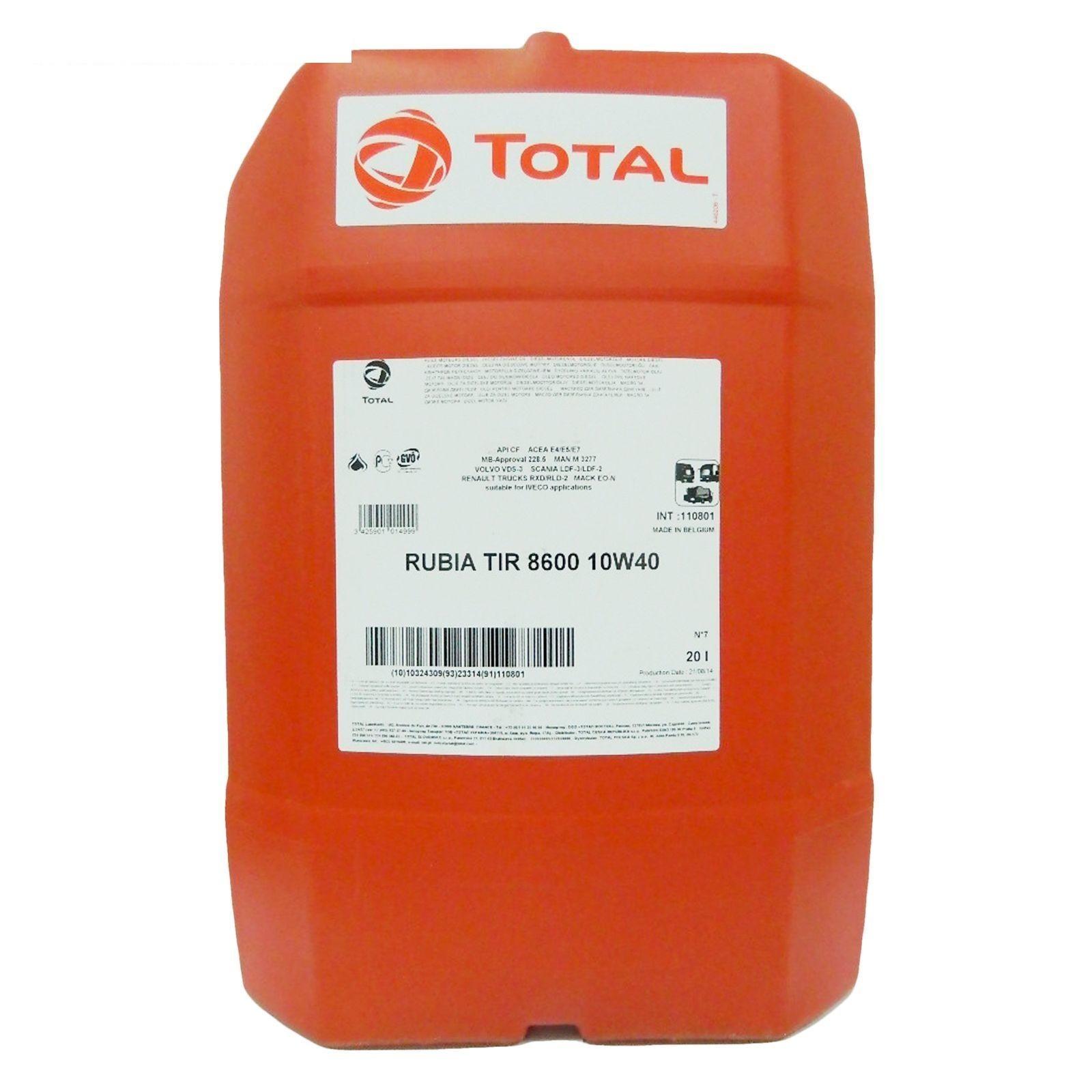 Total 8600 Rubia TIR 10W40  Синтетическое моторное масло для грузовых автомобилей