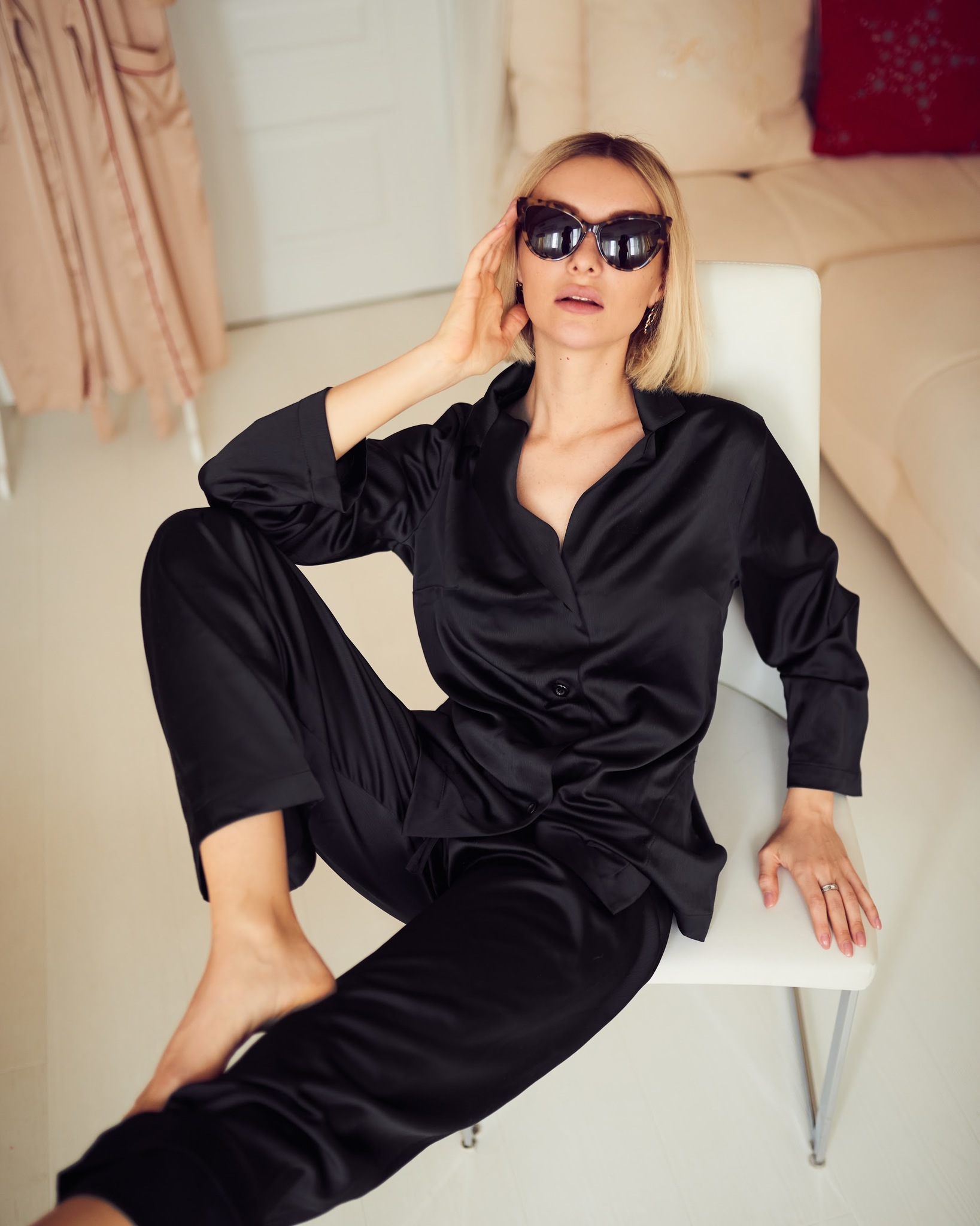 Пижамный костюм черный