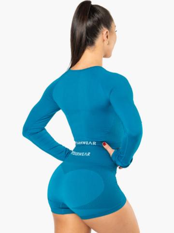 Шорты жен. для фитнеса Riderwear Seamless Electra Electric