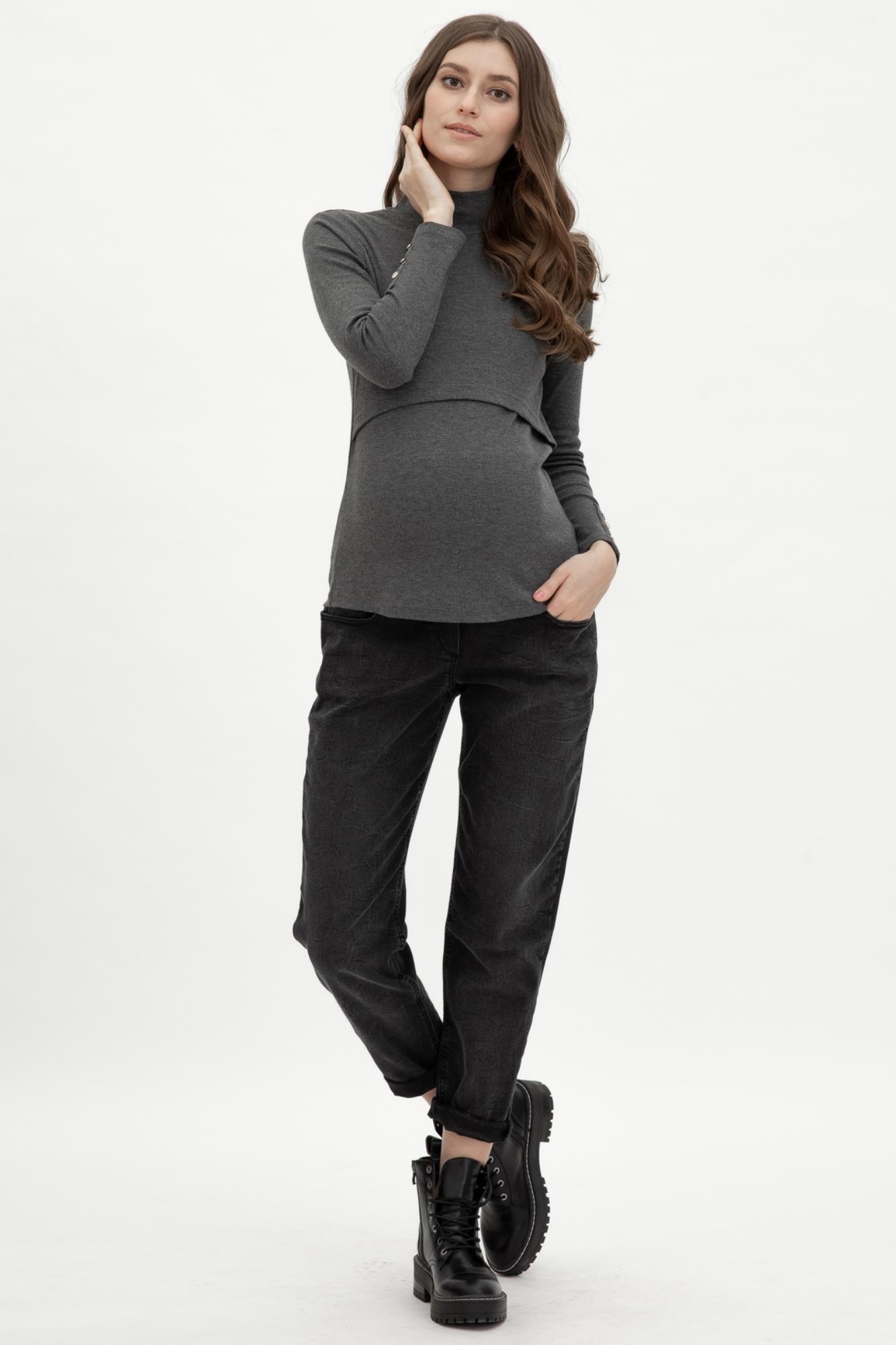 Джинсы для беременных (BOYFRIEND) 12009 черный