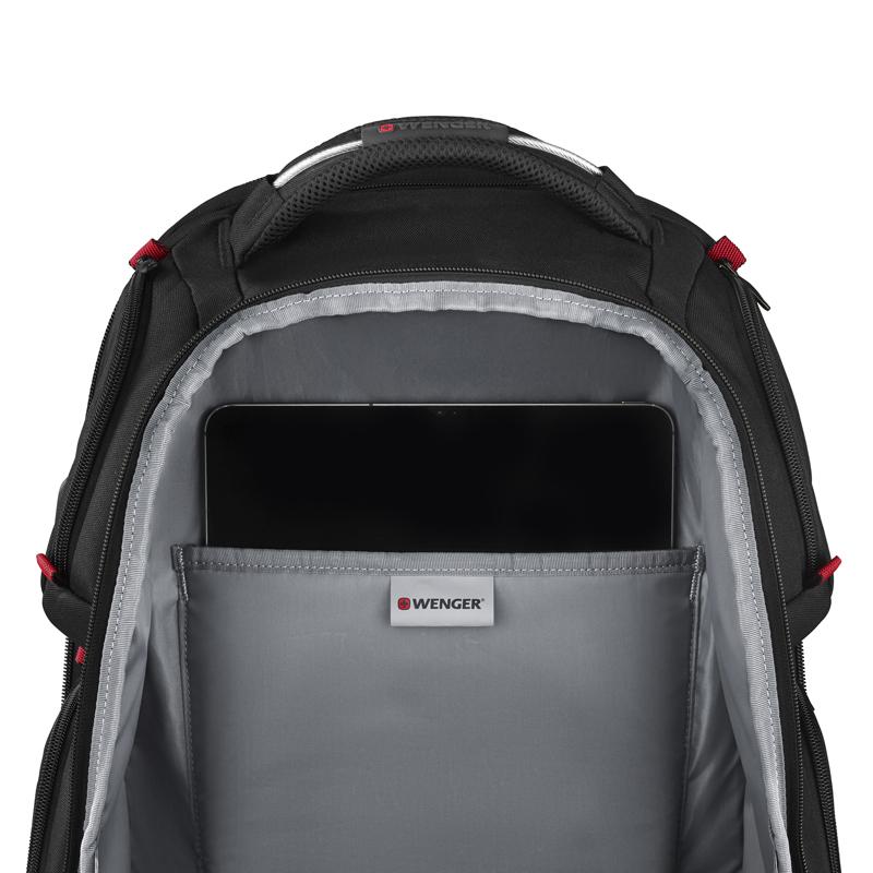 Рюкзак WENGER Tech Player One с отделением для ноутбука, цвет чёрный, 49х38х26 см., 29 л. (611650) | Wenger-Victorinox.Ru