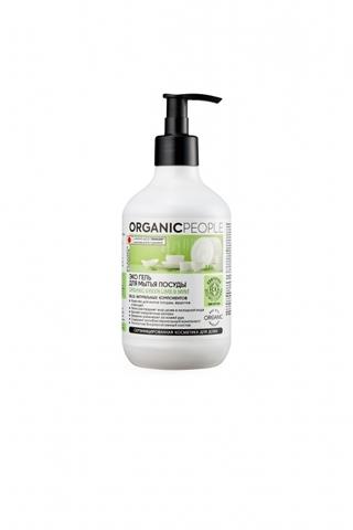 ORGANIC PEOPLE Эко-гель для мытья посуды Lime&Mint, 500 мл