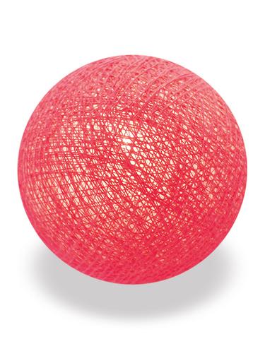 Хлопковый шарик ярко-розовый