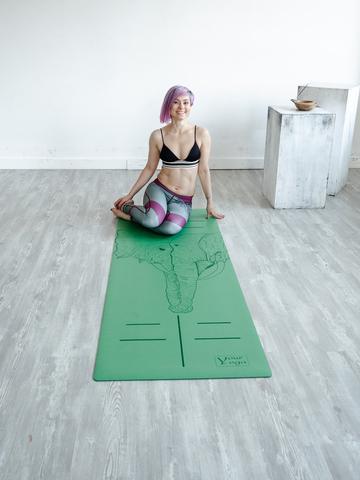 Каучуковый коврик для йоги Elephants 183*65*0,2-0,4 см