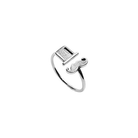 Hatter Ring, Sterling Silver
