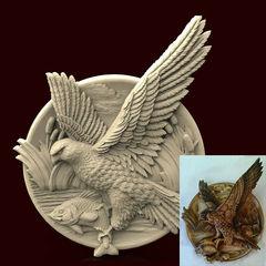 Силиконовый молд   Ястреб    (медальон)  № 0478