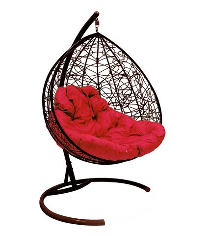 Кресло подвесное Lagos TWIN brown/crimson