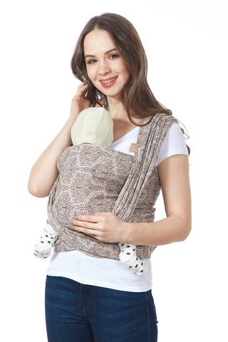 Слинг-шарф 11602 коричневый