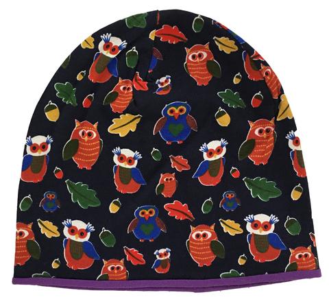 Детская шапочка с принтом Совушки
