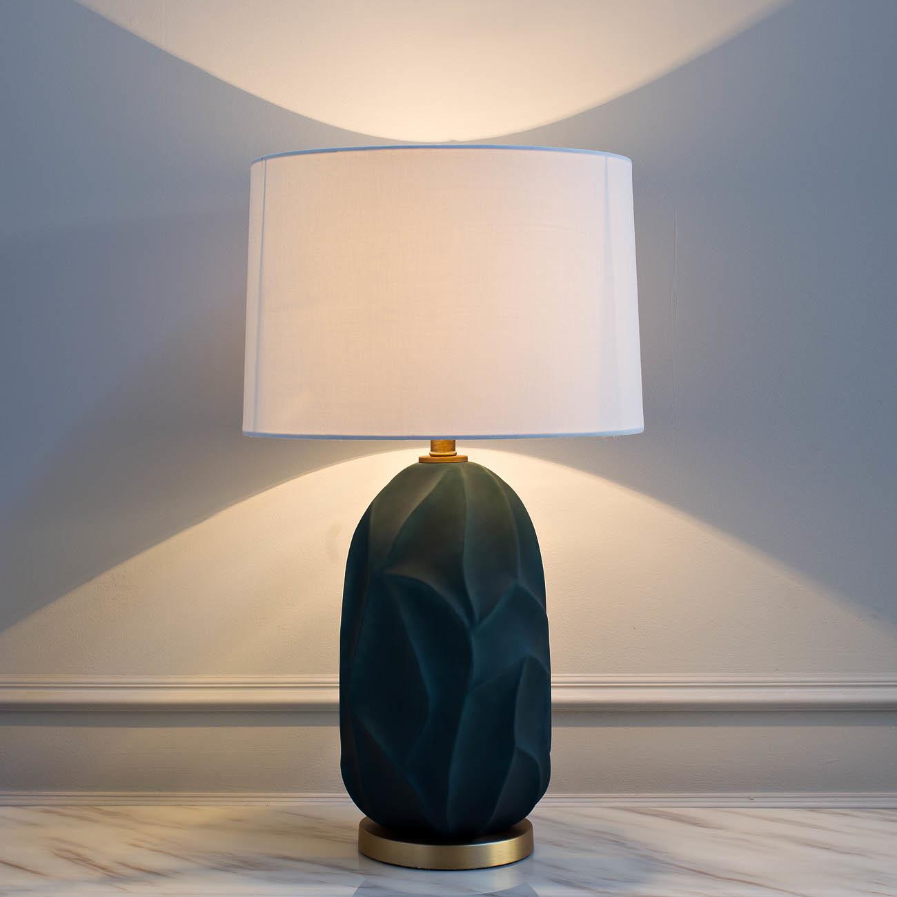 22-87945 Лампа настольная плафон белый d40*75см