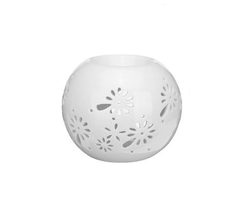 Аромалампа керамическая Шар белый  10см