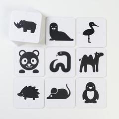 Черно-белые карточки для малышей