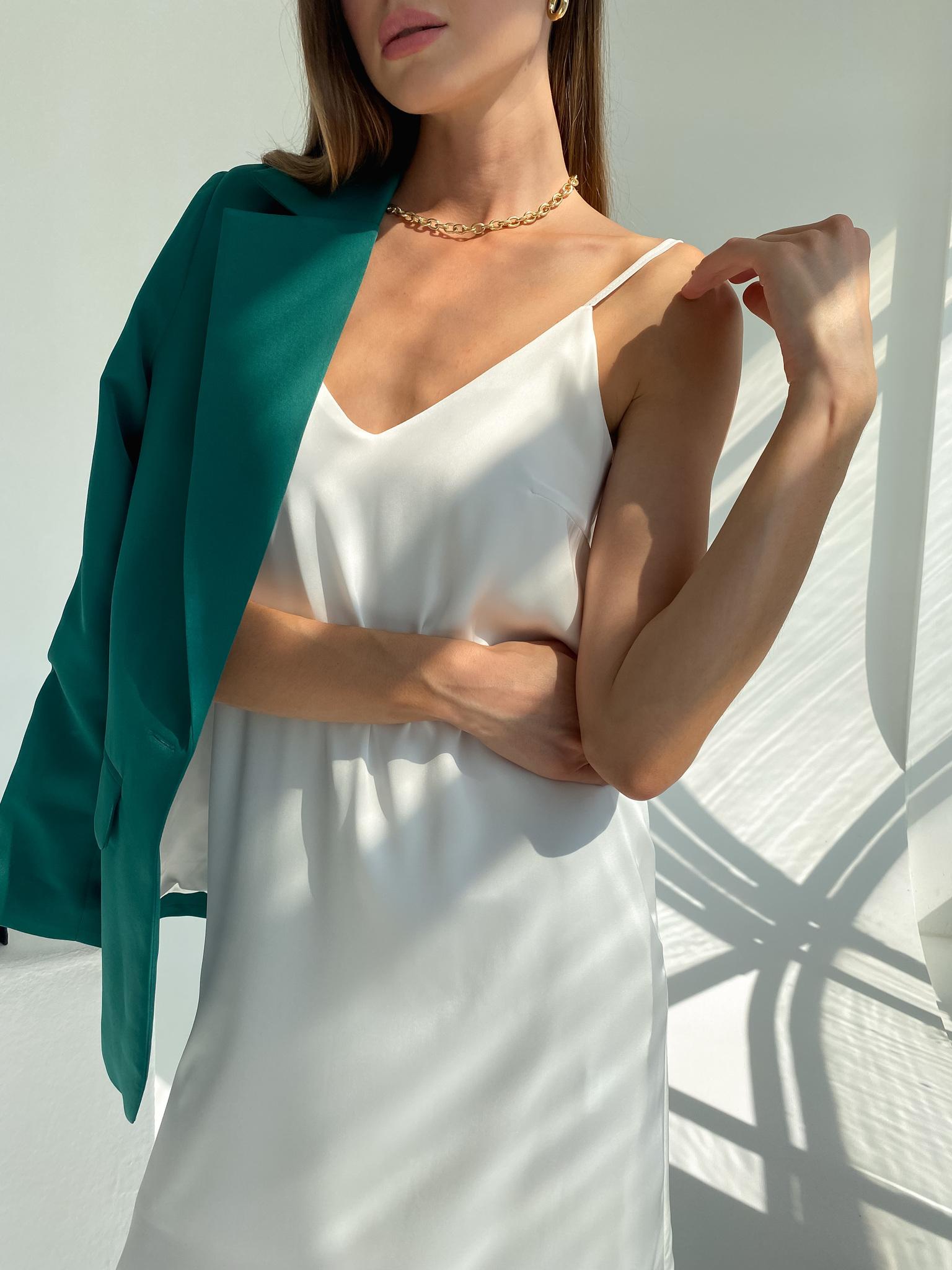 Платье-комбинация из смесового шелка (белый)