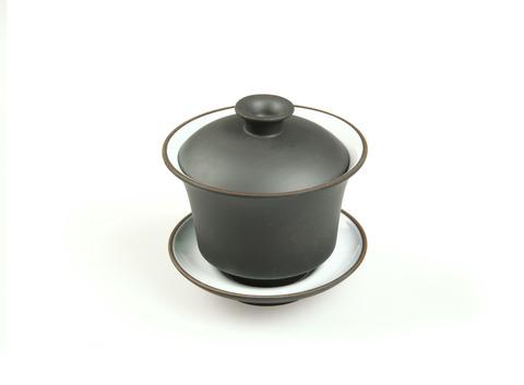 Гайвань из исинской глины черная (эмаль) 120 мл. Интернет магазин чая