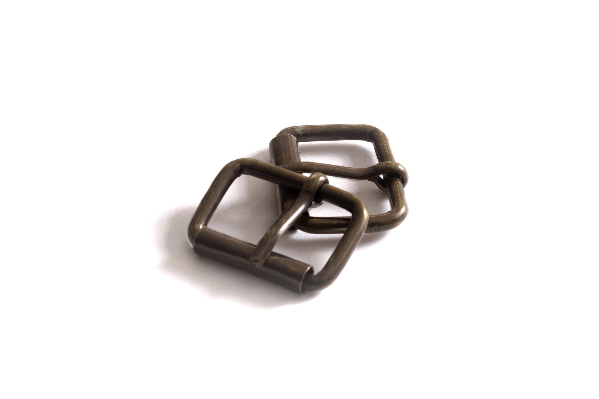 Пряжка роликовая 25 мм - состаренная латунь