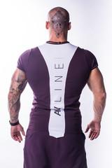 Мужская футболка Nebbia Muscle Back 728 burgundy