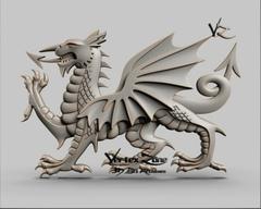 Силиконовый молд № 2415 дракон  левый