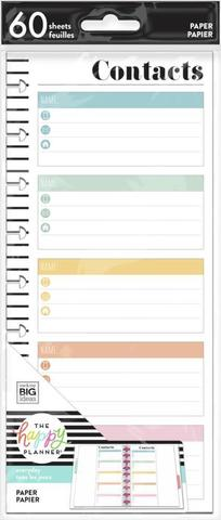 Внутренний блок для ежедневника -Contacts Classic Half Sheet Filler Paper-60л