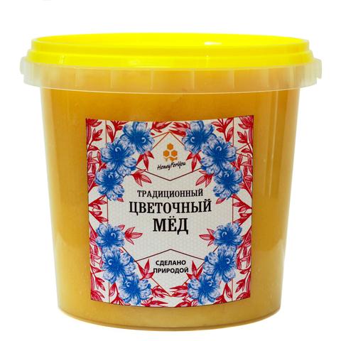 Традиционный цветочный мед HoneyForYou, 1400 грамм