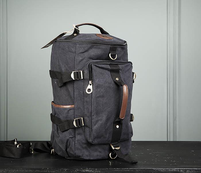 BAG368-1 Городская тканевая сумка рюкзак с ремнем на плечо