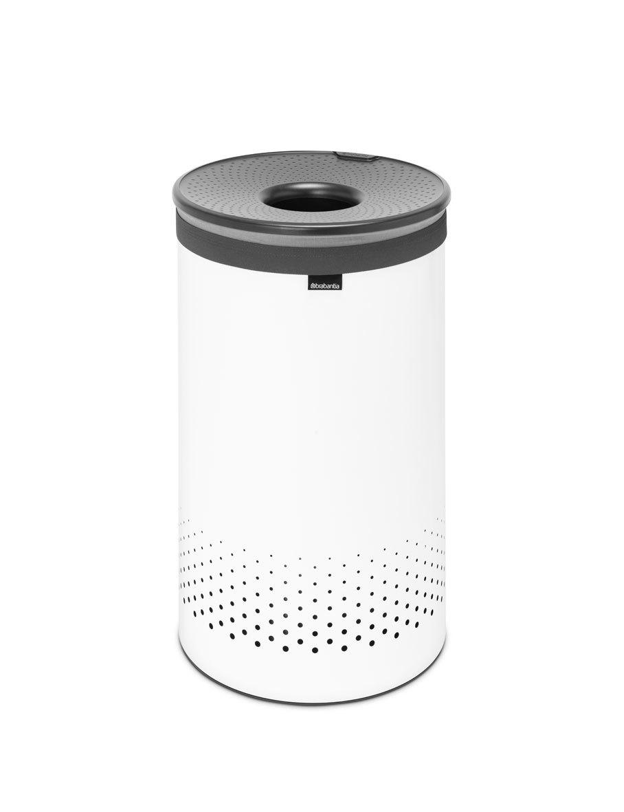 Бак для белья с пластиковой крышкой (60 л), Белый, арт. 304880 - фото 1