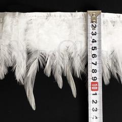 Купить оптом перья Курицы на ленте белые White в интернет-магазине