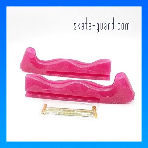 Защита лезвий Skate-Guard (малиновый с блестками)