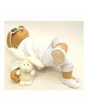 Тапочки трикотажные с помпоном - На кукле. Одежда для кукол, пупсов и мягких игрушек.