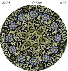 Эскиз для росписи, Круг диаметр-47,5см, SMAR-st-49