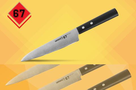 SS67-0023 Нож кухонный Samura 67, универсальный, 150 мм, 58 HRC, ABS пластик