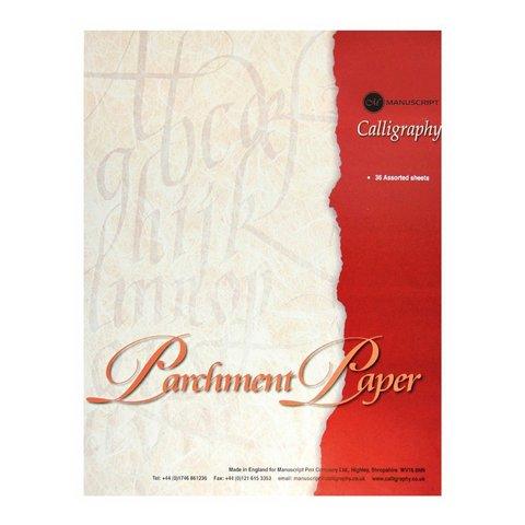 Бумага пергаментная для каллиграфии Manuscript, А4, 90г/м2, 36 л.