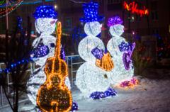 Световой Снеговик