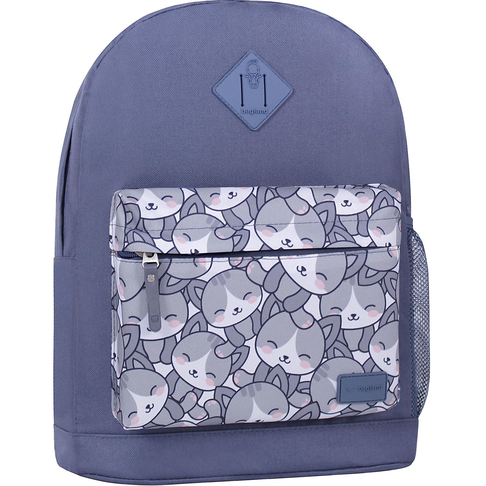 Городские рюкзаки Рюкзак Bagland Молодежный W/R 17 л. Серый 756 (00533662) IMG_6424_суб.756_.JPG