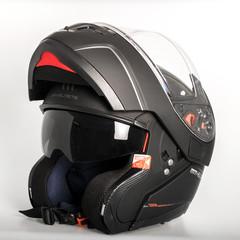 Шлем-модуляр MT Atom, чёрный матовый