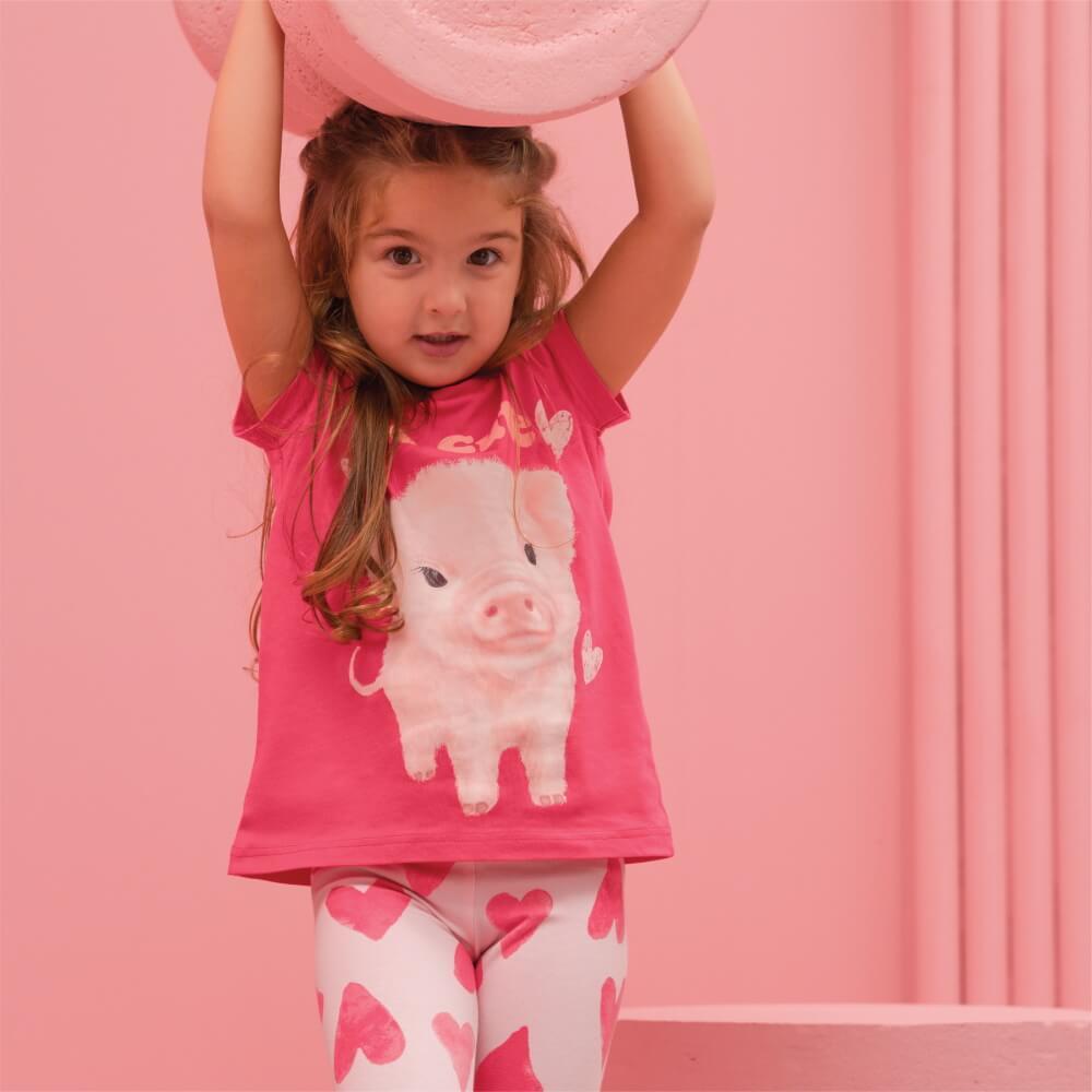 Детская женская футболка E21K-14M101