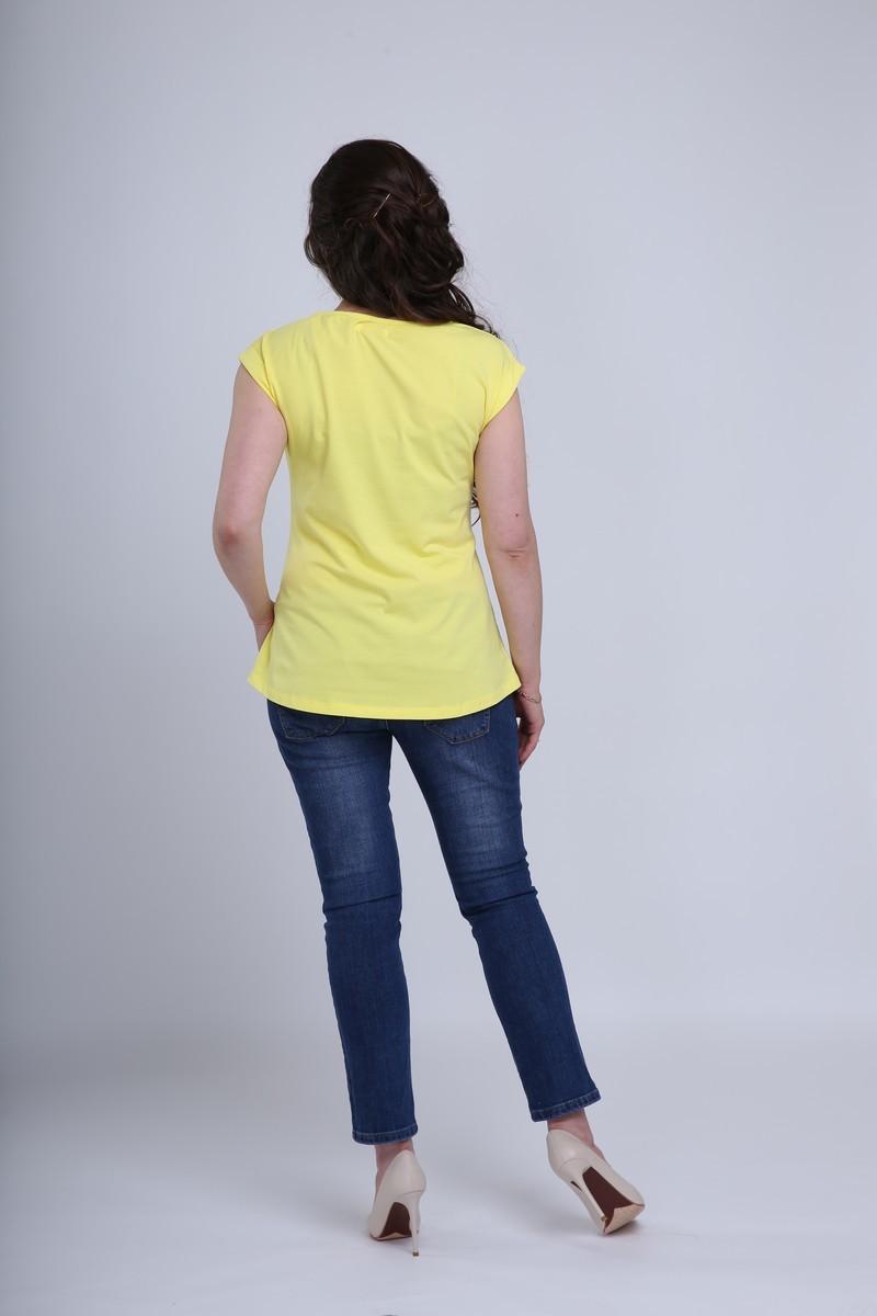Футболка для беременных 08665 лимонный