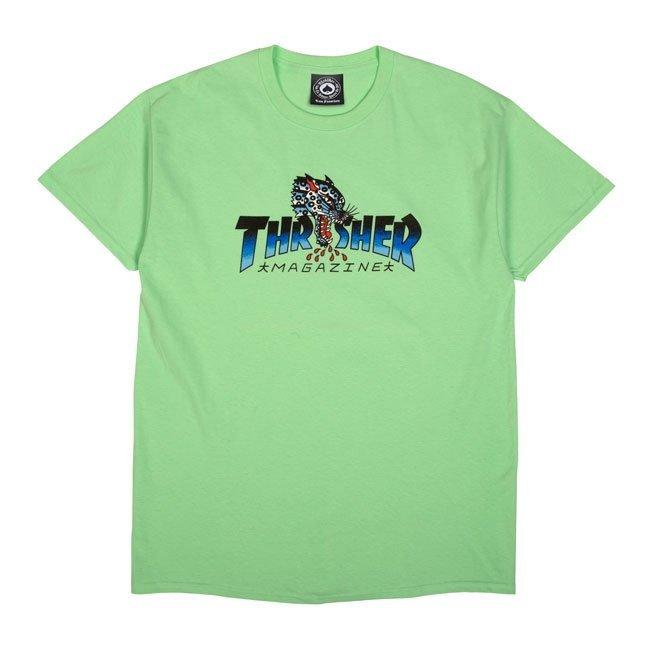 Футболка THRASHER Leopard Mag (Mint)