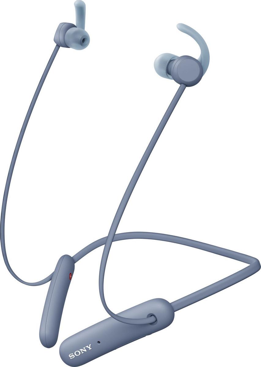 WI-SP510L беспроводные Bluetooth наушники Sony, цвет синий