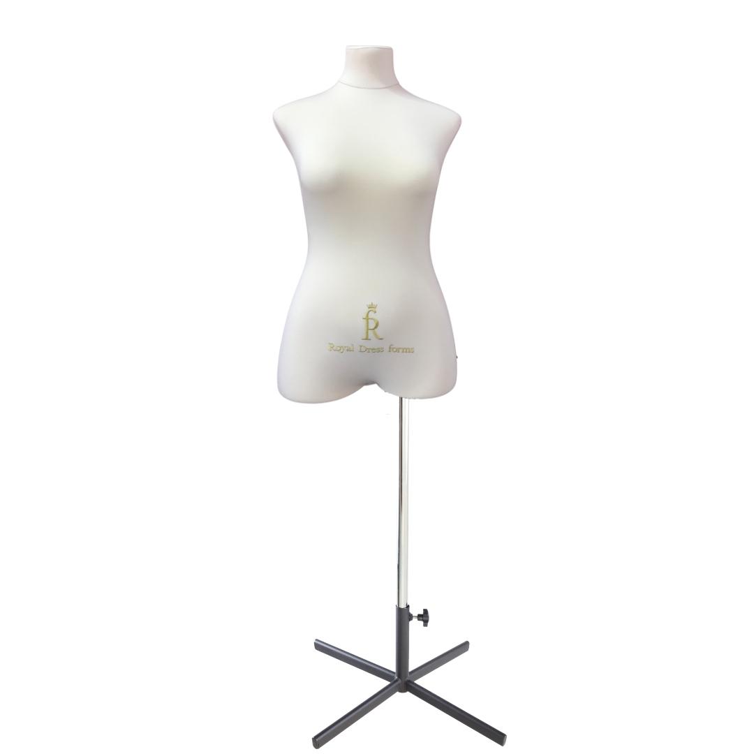 Манекен портновский Кристина, комплект Премиум, размер 44, тип фигуры Песочные часы, бежевыйФото 1