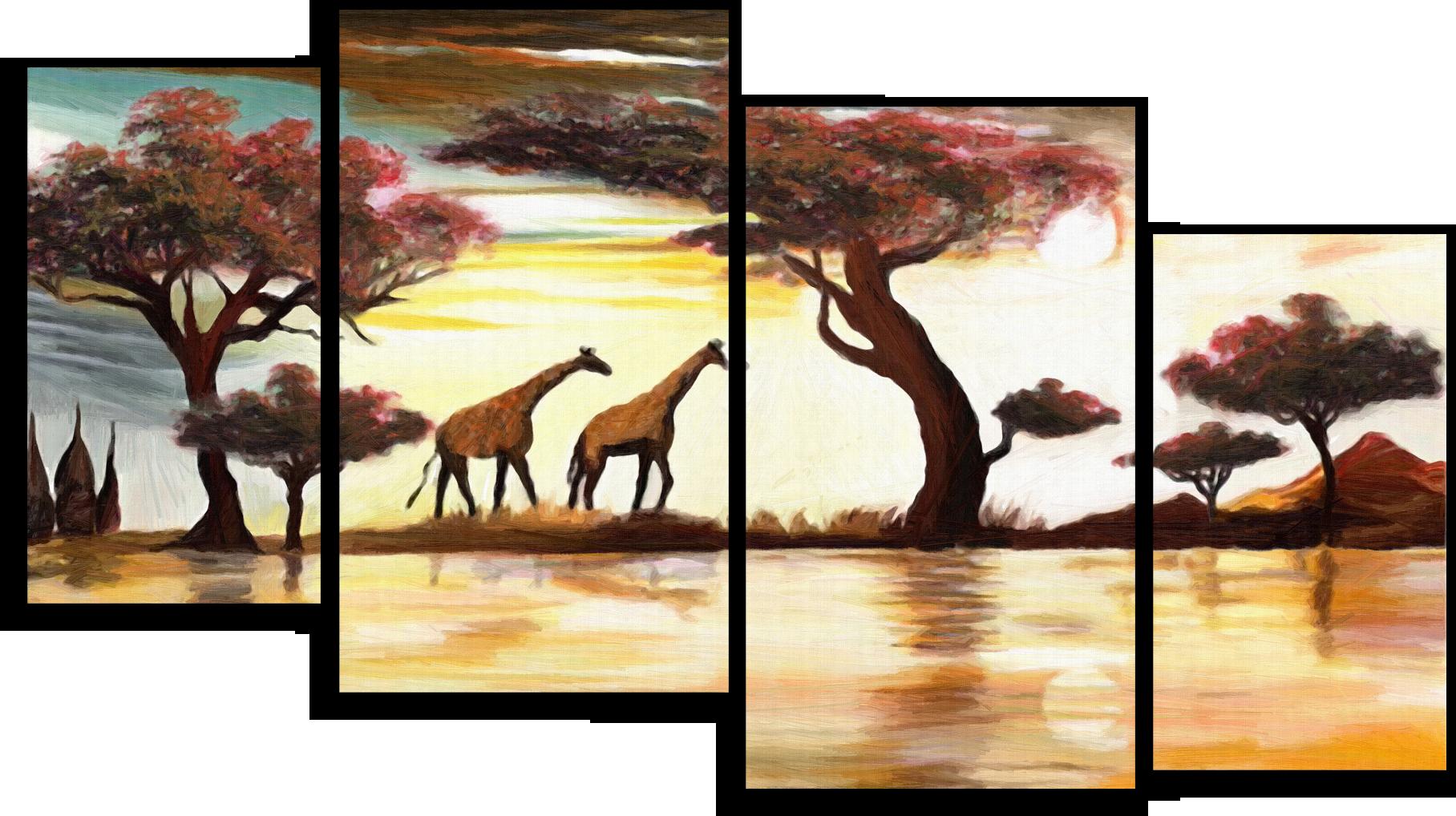 """Модульные картины Модульная картина""""Два жирафа"""" М297.png"""