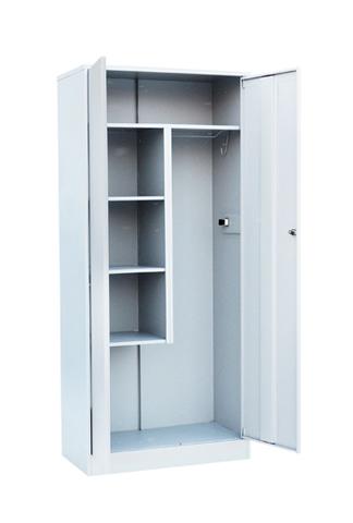 Шкаф для уборочного инвентаря 2-х створчатый - фото