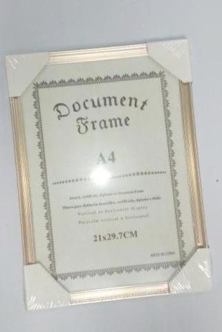 Фоторамка пластик YY-8543, 21х30, белое золото