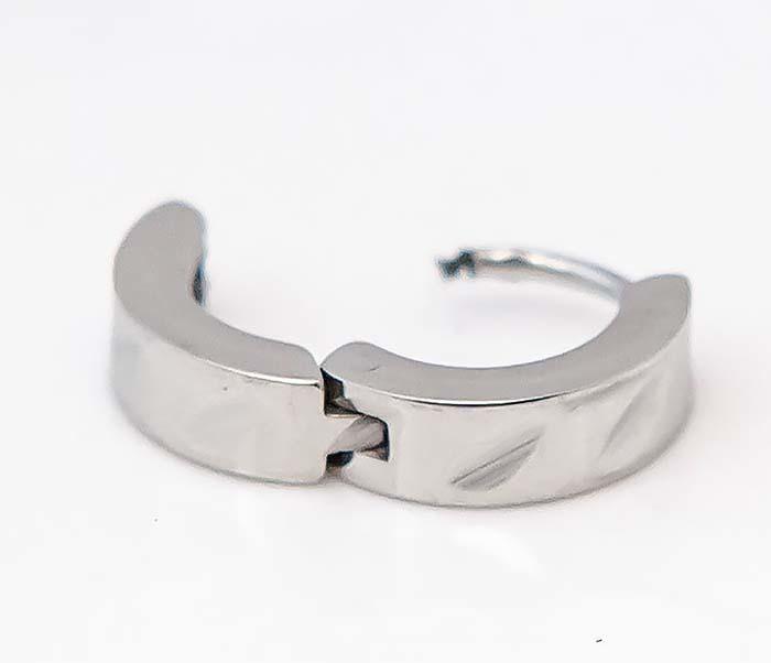 SSE-005 Серьги-кольца «Spikes» из стали фото 06
