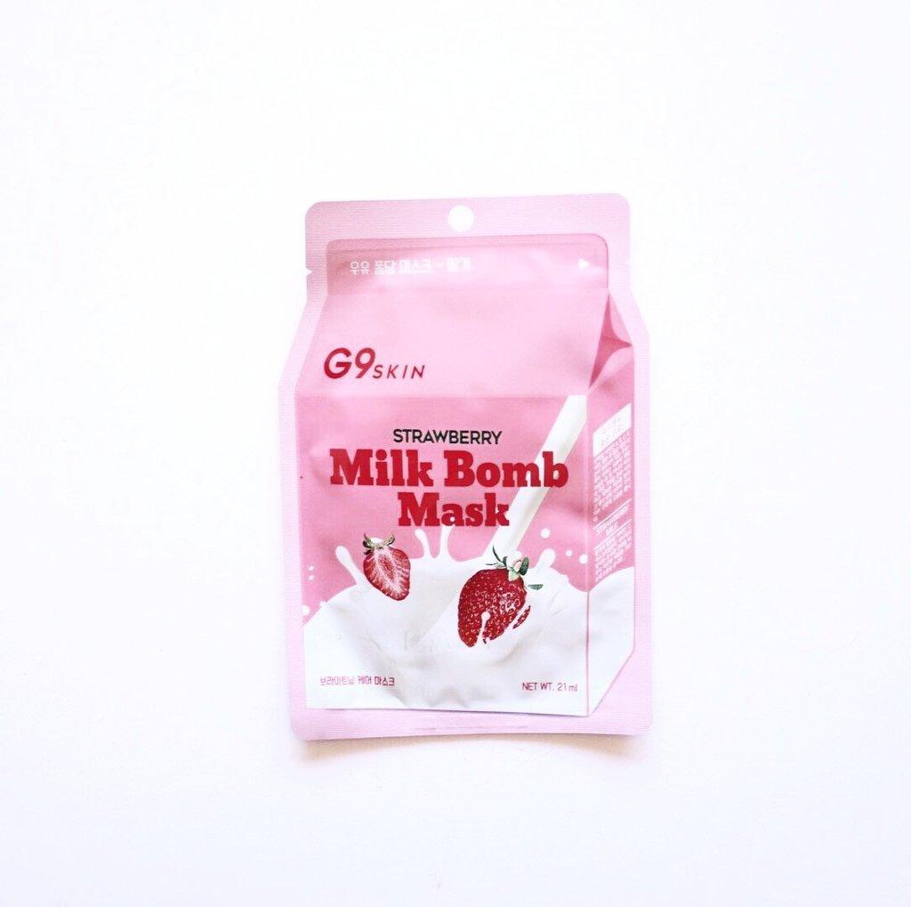 "Berrisom Маска тканевая для лица BERRISOM ""G9SKIN MILK BOMB MASK-Strawberry 21мл."" Milk_Bomb_strawberry_1024x1024.jpeg"