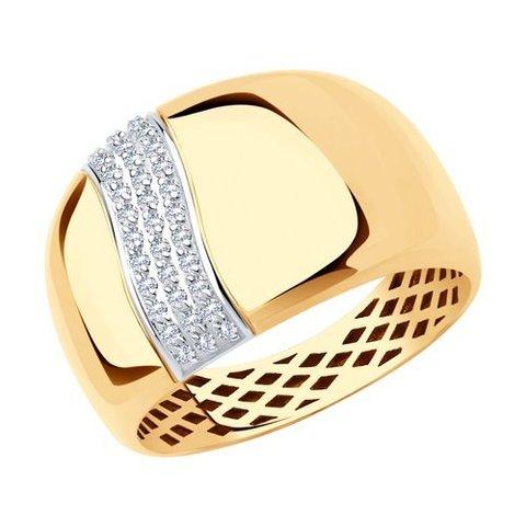 018619 - Кольцо из золота с фианитами