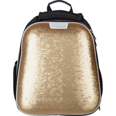 Ранец ортопедический №1 School Sparkle Gold (пайетки двусторонние)