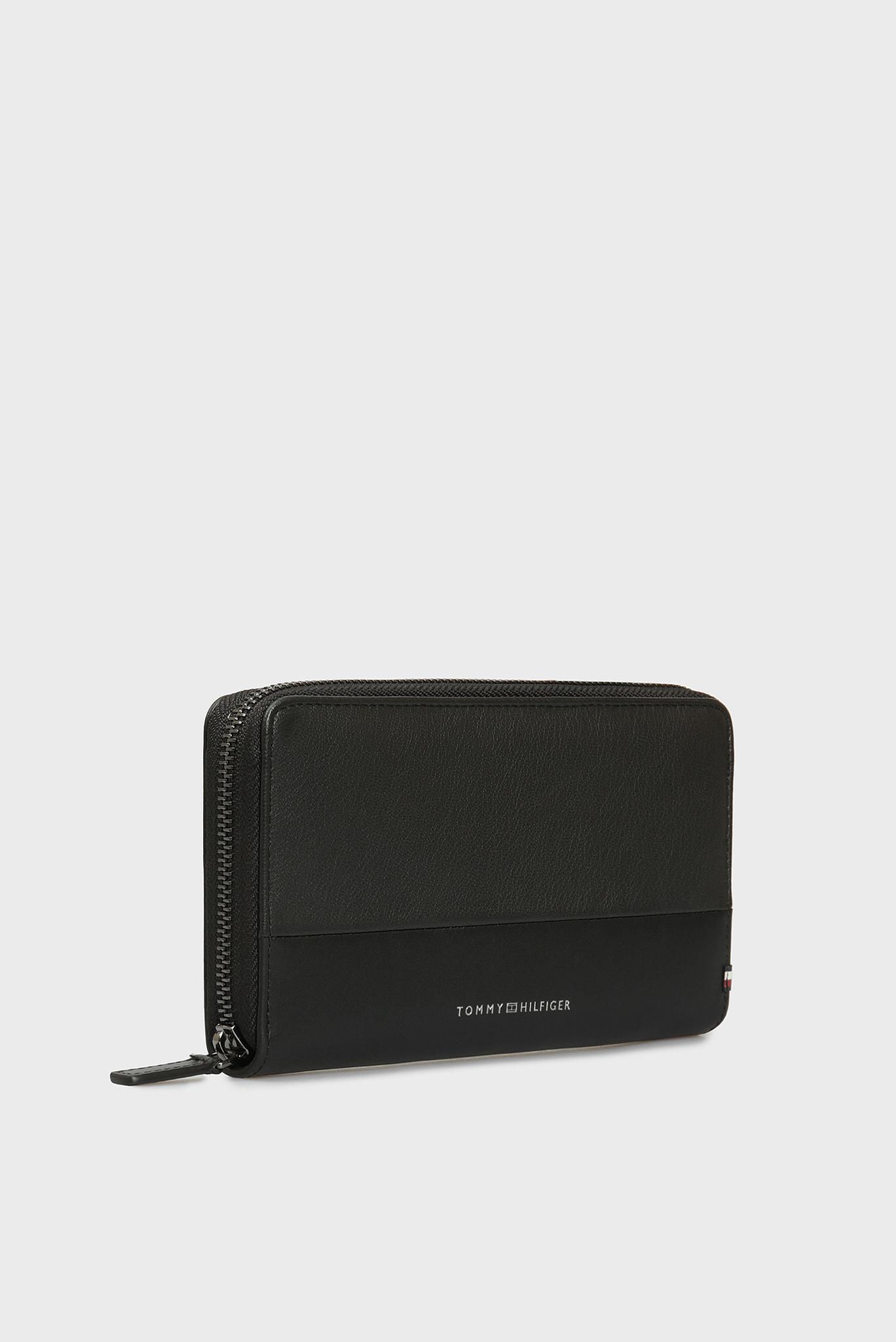 Мужской черный кожаный кошелек MULTI Tommy Hilfiger
